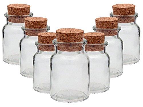 Gewürzgläser Set mit Press-korken | 10 teilig | Füllmenge 150 ml | Rund Hochwertiges Glas | Glasdose Glasgefäß idea...